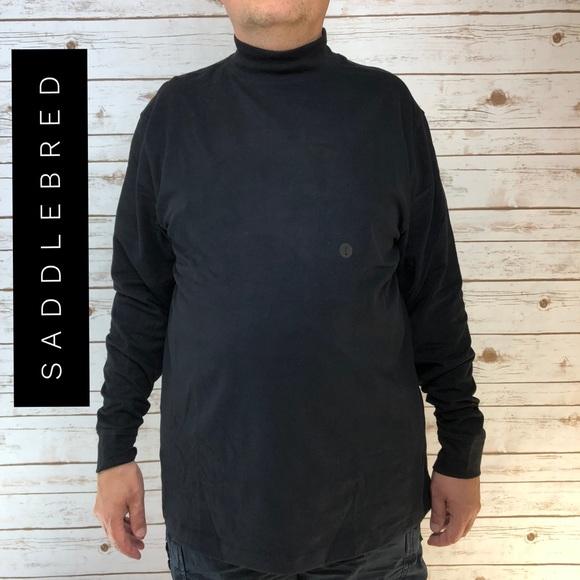 5820a8c91dcc52 Saddlebred Flex Carbon Stretch Mock-Neck Black Top